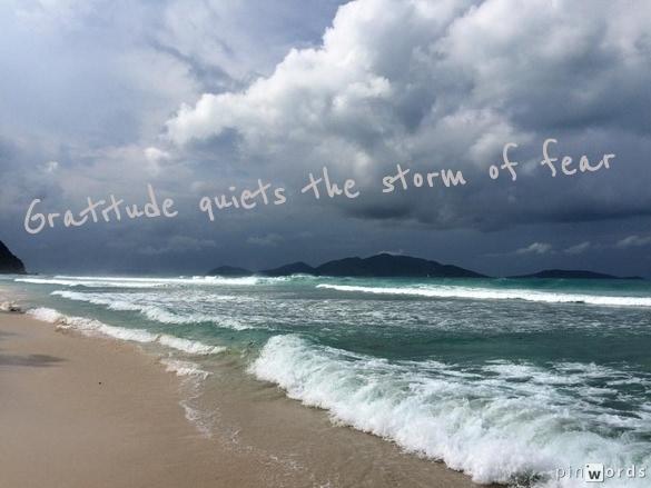 stormy ocean gratitude